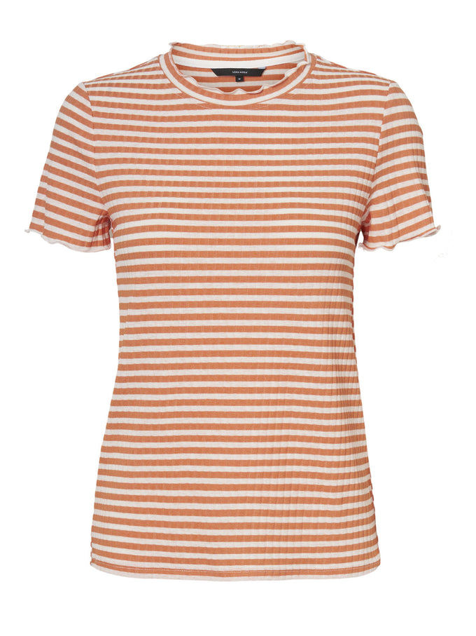 KIRI STRIPED t-shirt CARNELIAN