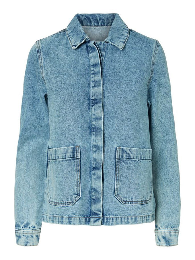LOOSE DENIM JACKET LIGHT BLUE DENIM