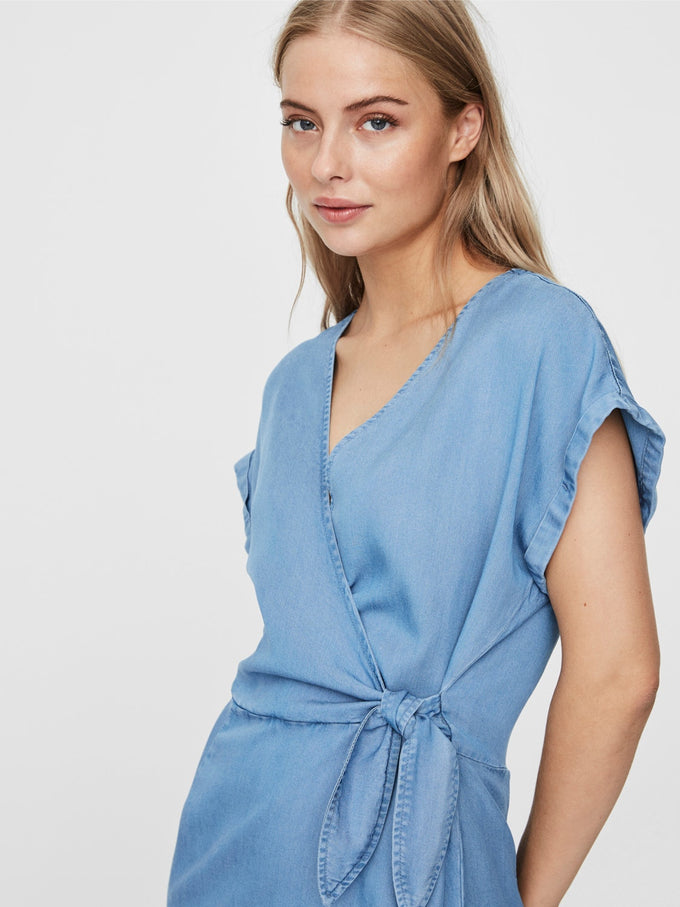 Lisa wrap dress LIGHT BLUE DENIM