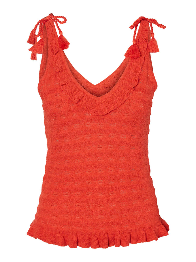 Mikia knit cami AURORA RED