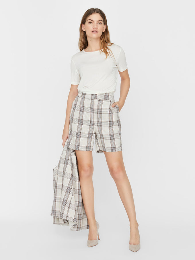 Molly plaid shorts PALE BANANA