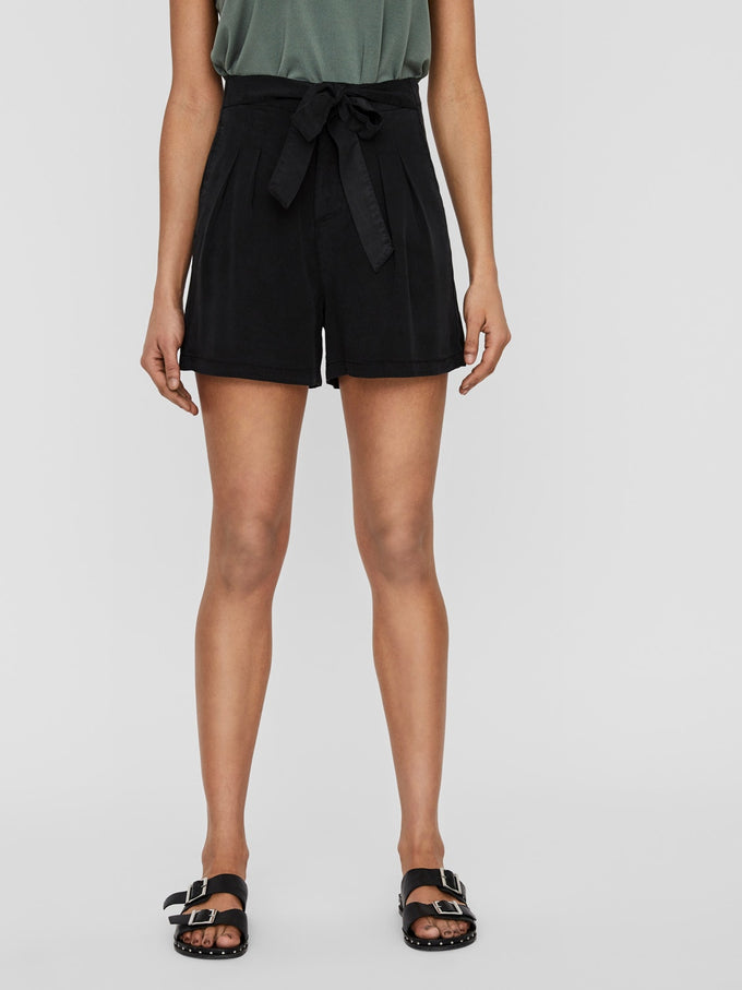 Mia Tencel shorts BLACK