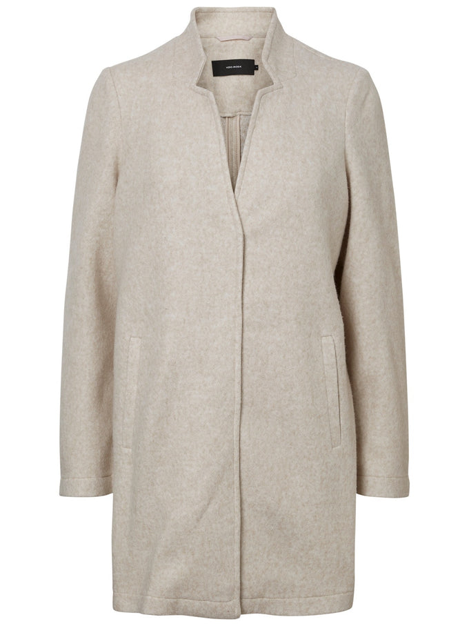 Katrine Brushed Coat BIRCH