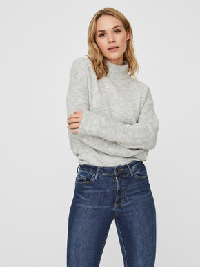 RANA LONG SLEEVE HIGH NECK SWEATER