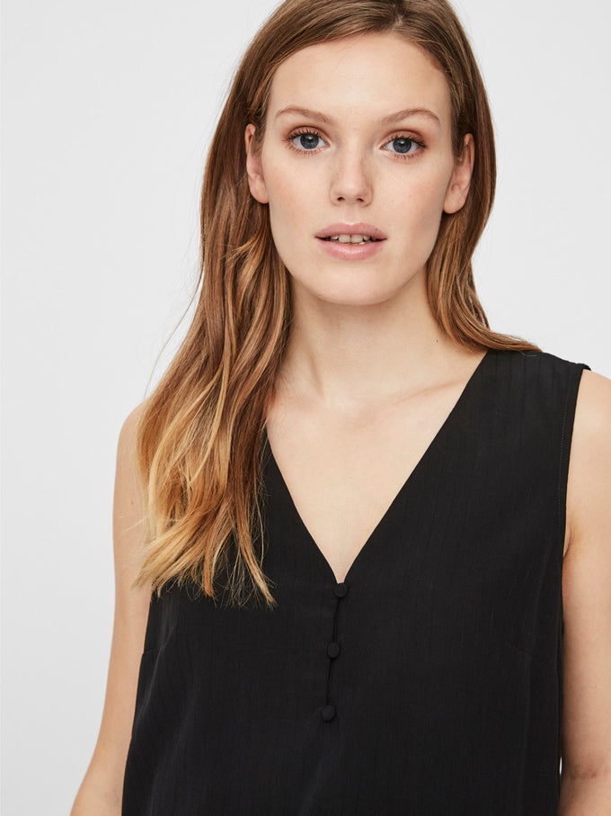 Kora Sleeveless blouse BLACK