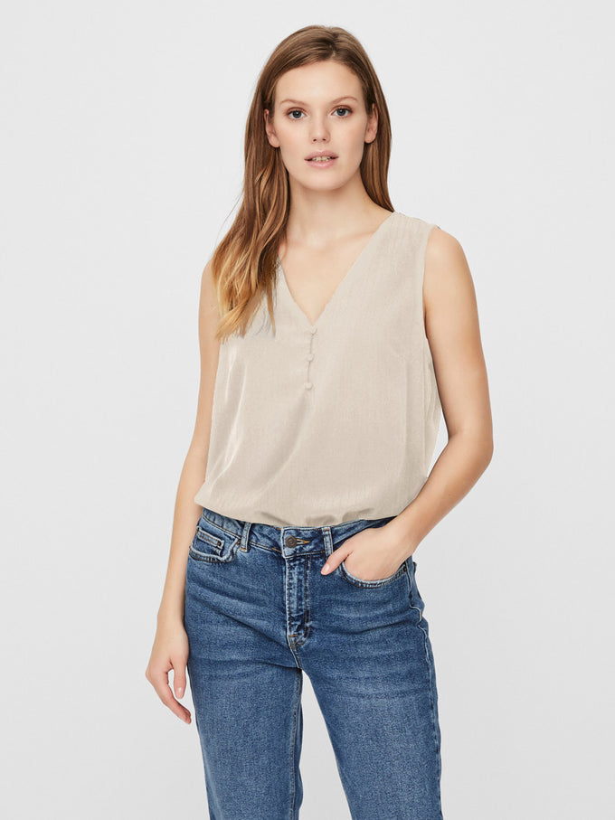 Kora Sleeveless blouse BIRCH