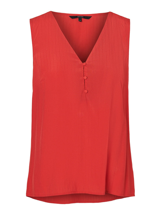 Kora Sleeveless blouse AURORA RED