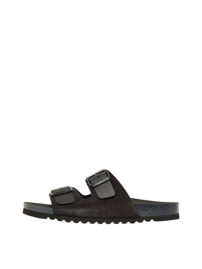 Carla leather sandals BLACK