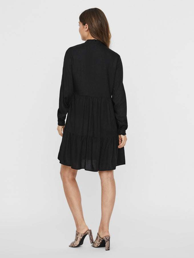 JILLEY LONG SLEEVES SHORT DRESS BLACK
