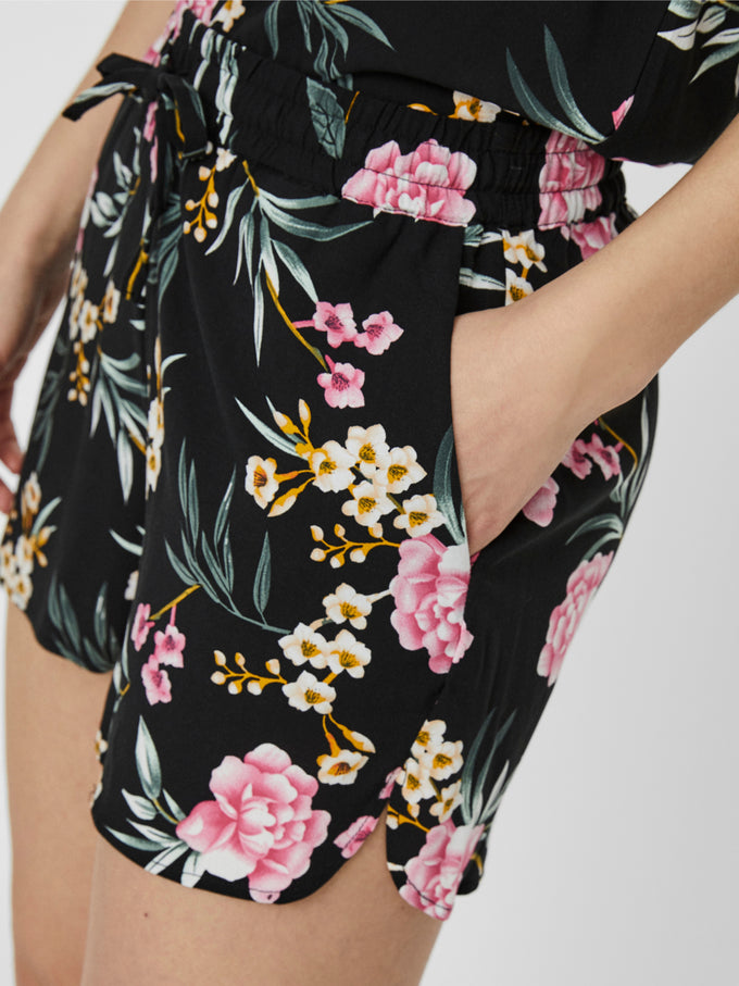 Simply easy shorts BLACK FLORAL
