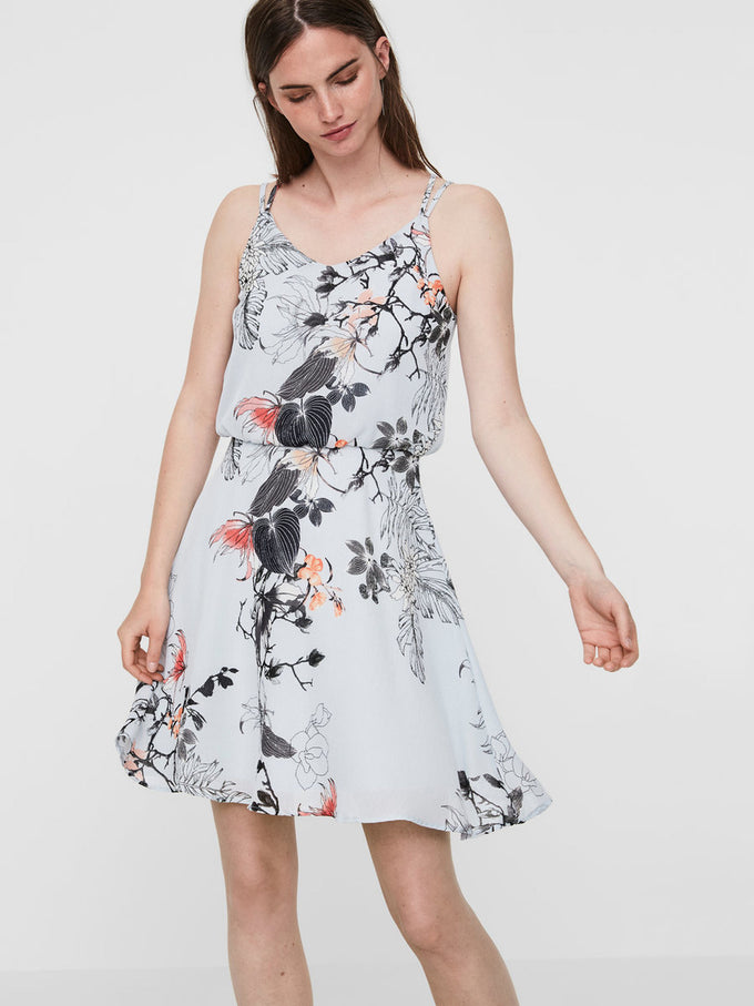 PRINTED SLEEVELESS DRESS PLEIN AIR
