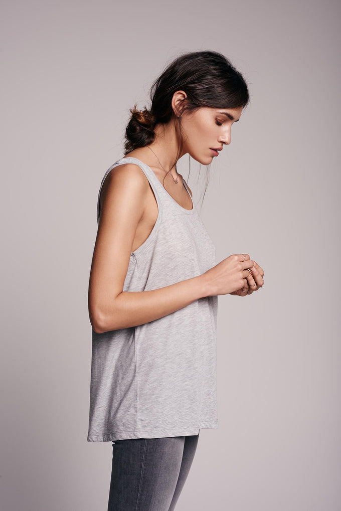 CAMISOLE MÉLANGE MODAL VMPOWER BLANC LUMINEUX