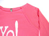 Yoga shirt | warm-up top | neon pink