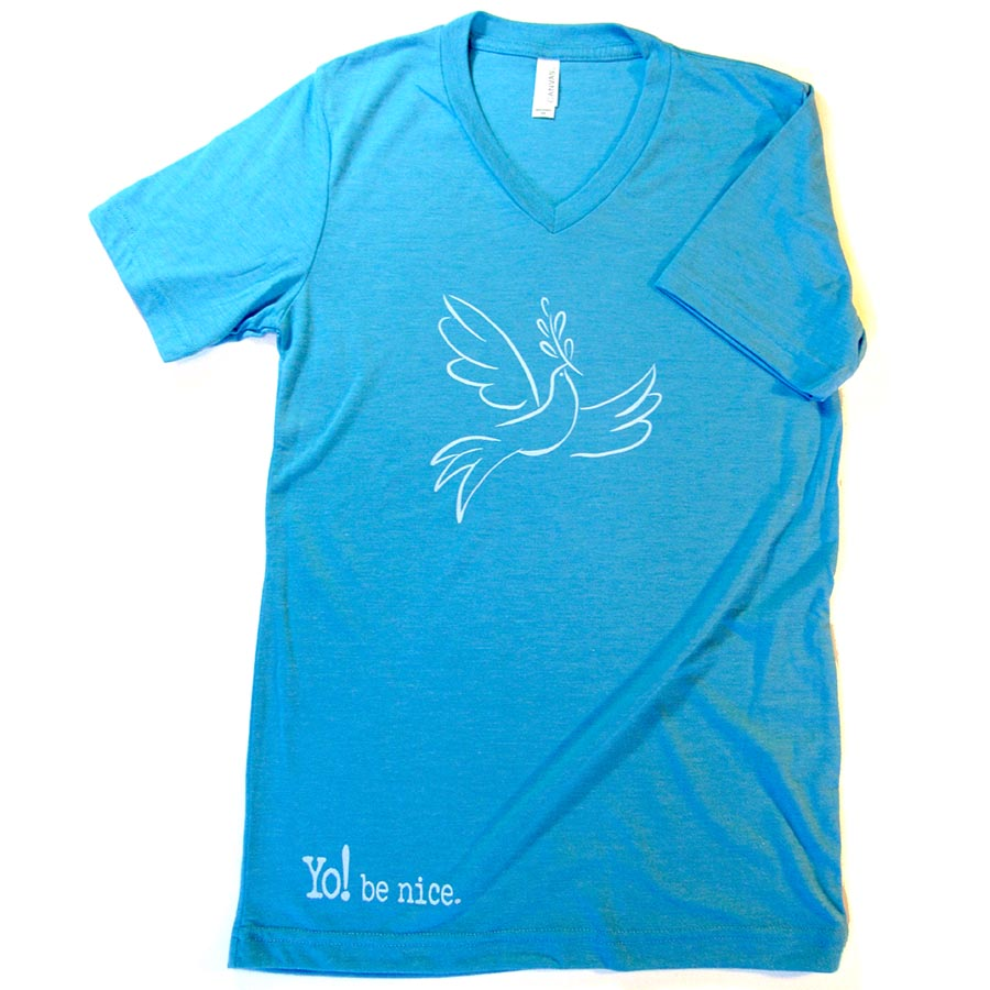 Peace dove | v-neck | teal