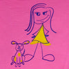 A girl and her dog | youth | pink