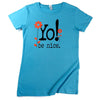 Girls graphic t-shirt | flowers | aqua