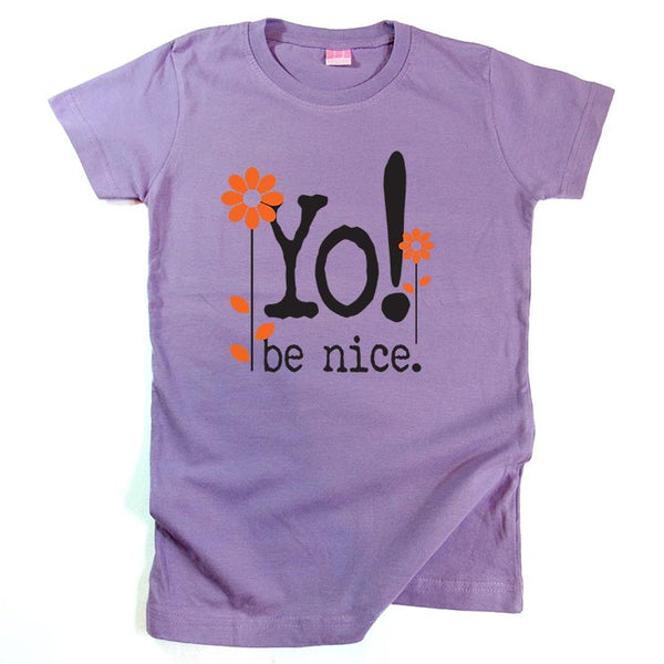 Girls Short sleeve t-shirt | Flowers | lavender