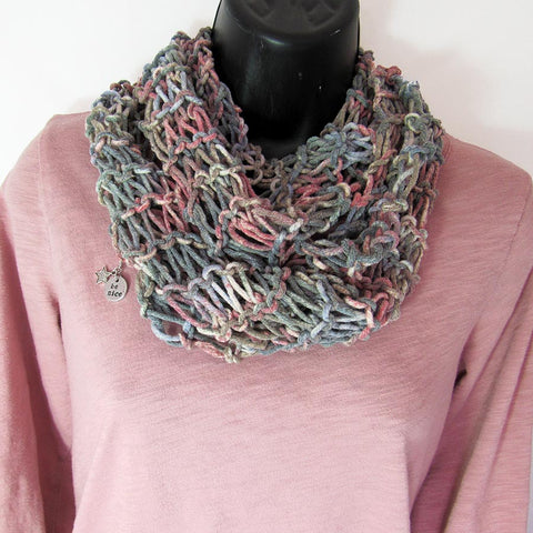All-Season Infinity Scarf | Gray Multi