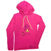Long sleeve hooded tee | hot pink | girl