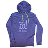 Long sleeve hooded tee | purple heather