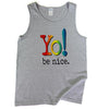 Men's tank | heather gray | multi