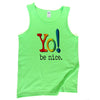 Mens rainbow tank top | lime/neon