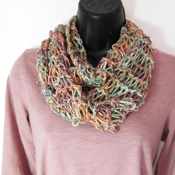 All-Season Infinity Scarf | Turquoise/Orange