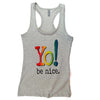 Workout tank | heather gray | multi