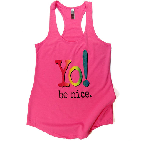 Yoga tank | hot pink | multi