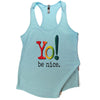 Yoga tank | lt blue | multi