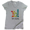 Women's v-neck t-shirt | multi