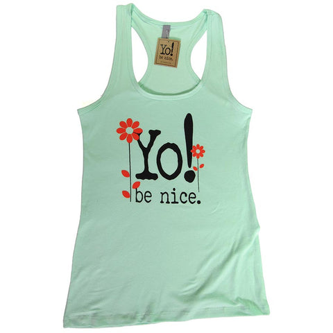 Workout tank | flower | mint