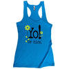 Workout tank | flower | turq