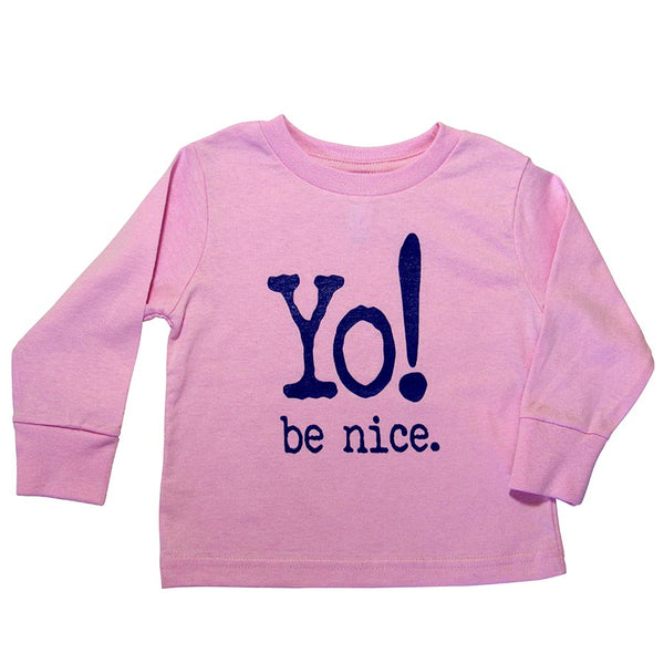 Toddler long sleeve tee | pink