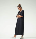 Double Wool Crepe Maxi Tunic