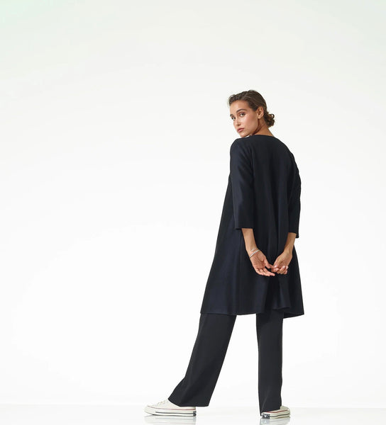 Black Cashmere Duster