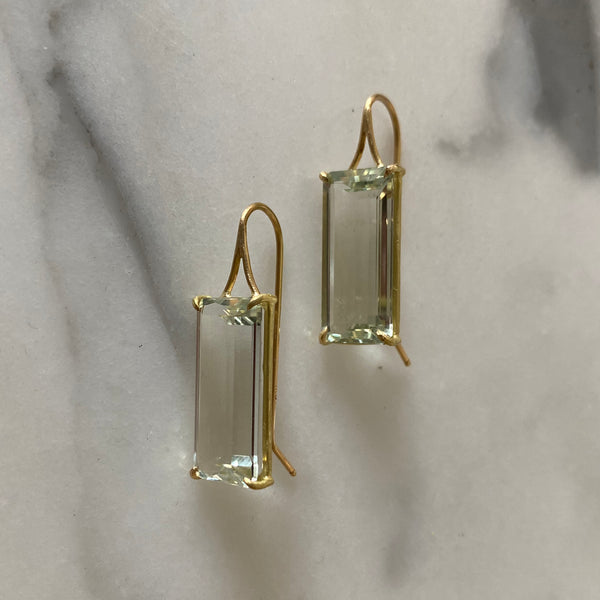 Copy of White Topaz Earrings
