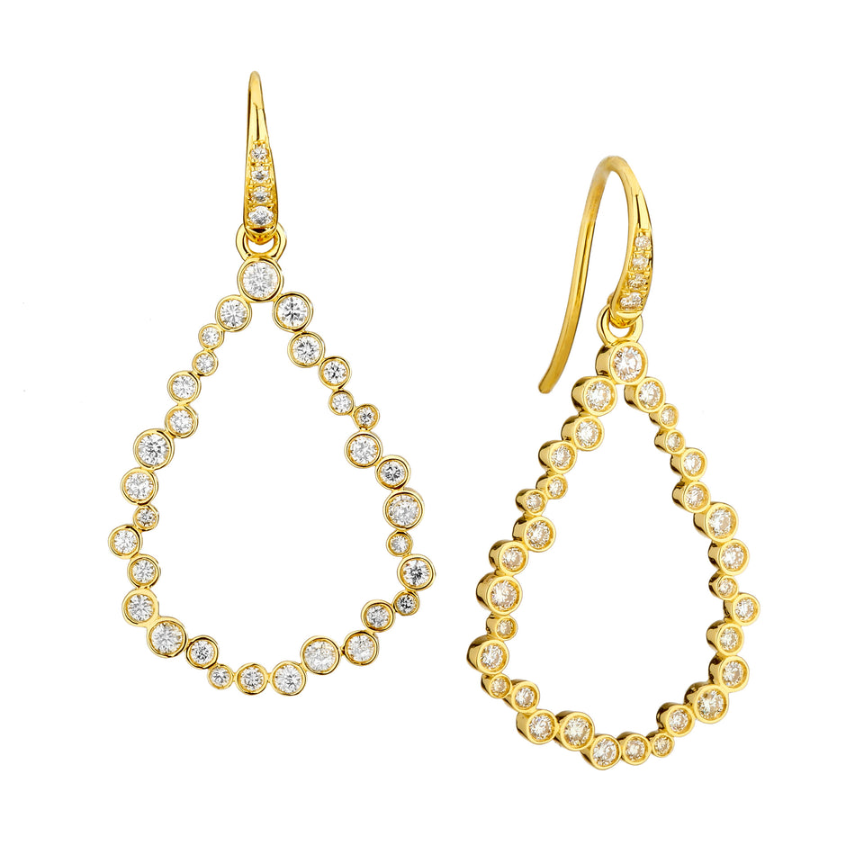 Champagne Diamond Bubbles Earrings