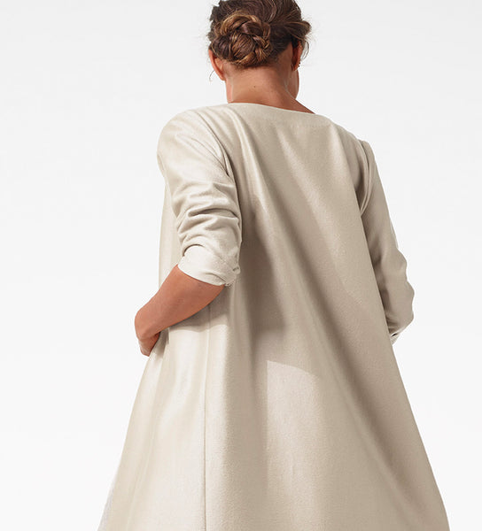 Stone Cashmere Duster