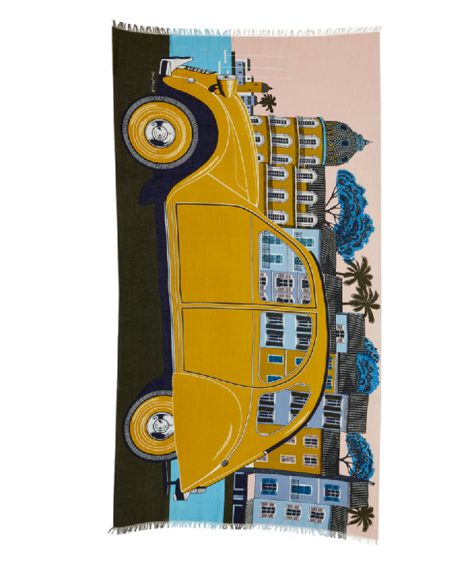 2CV SCARF - YELLOW