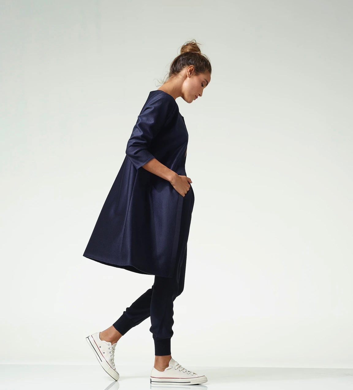 Navy Duster Cashmere