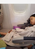 Flytot, Fly-Tot inflatable footrest acts as a business seat for kids.