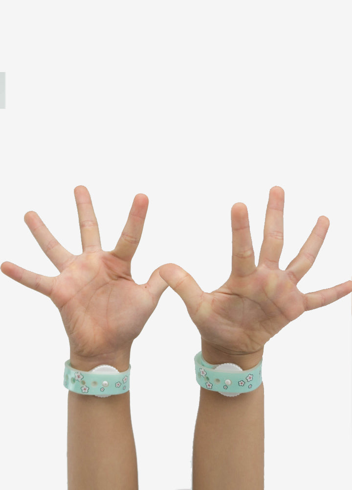 kids travel boutique anti-motion sickness acupressure wrist band hand photo
