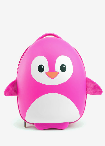 Penguin Trolley Luggage - Pink
