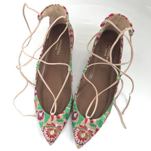 Christy Embroidered Canvas Point-toe Flats