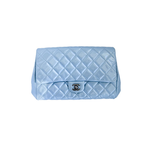 Chanel Patent Leather Flap Bag Marie-Antoinette Blue