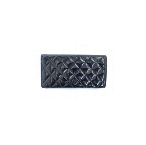 Chanel Classic Patent Leather Wallet Black
