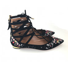 Belgravia Embroidered Suede Lace-Up Flat