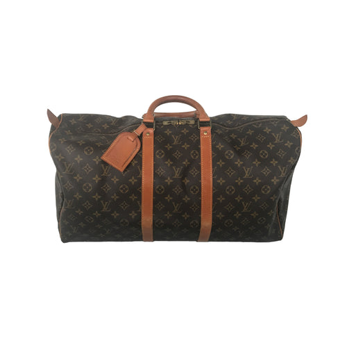 Keepall 55 Brown Monogram Leather