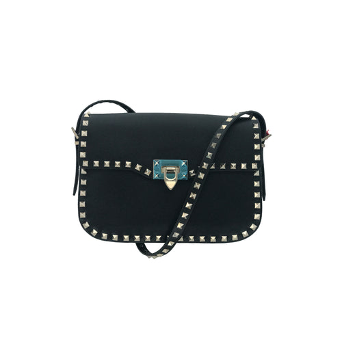 Black Rockstud Shoulder Bag